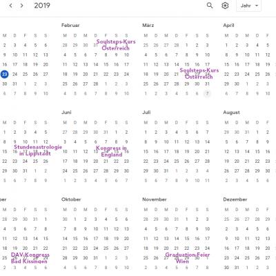 Kalender 2019 - persönlich